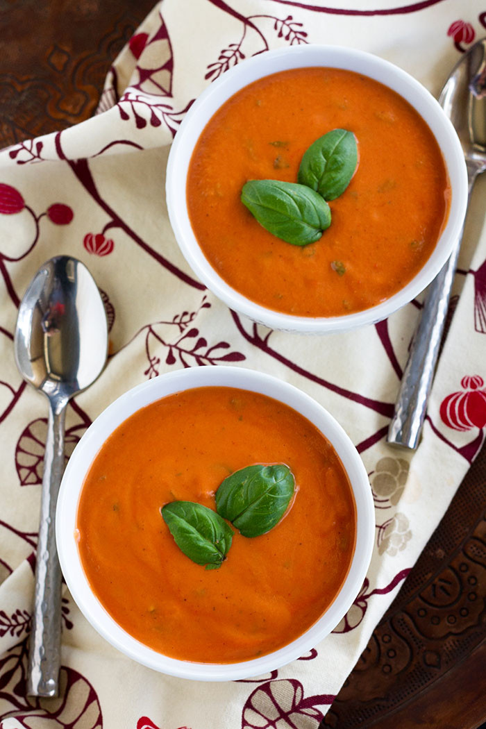 Carbs In Tomato Soup  Creamy Tomato Basil Soup Dairy free Low Carb Low Sugar
