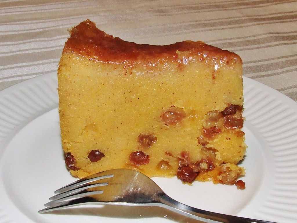 Caribbean Dessert Recipes  Jamaican Cornmeal Pudding this is a relatively simple
