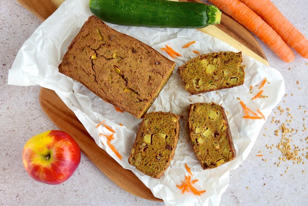 Carrot Apple Zucchini Bread  Carrot apple zucchini bread Desire to eat