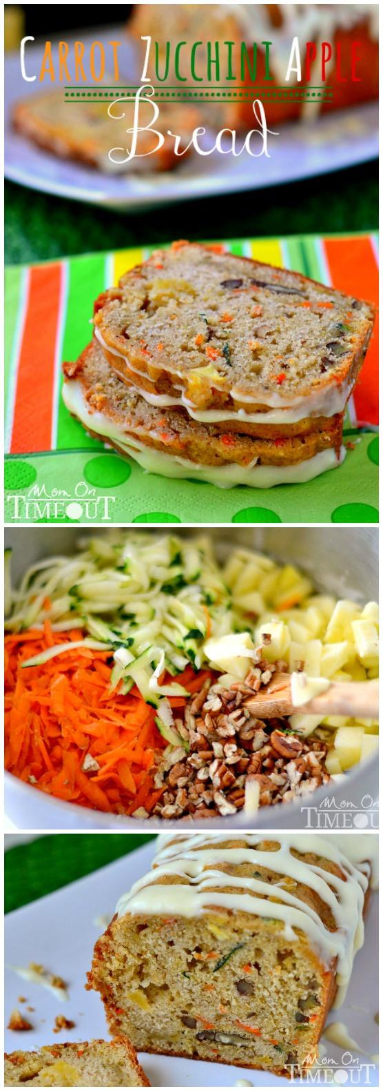 Carrot Apple Zucchini Bread  Carrot Zucchini Apple Bread Mom Timeout