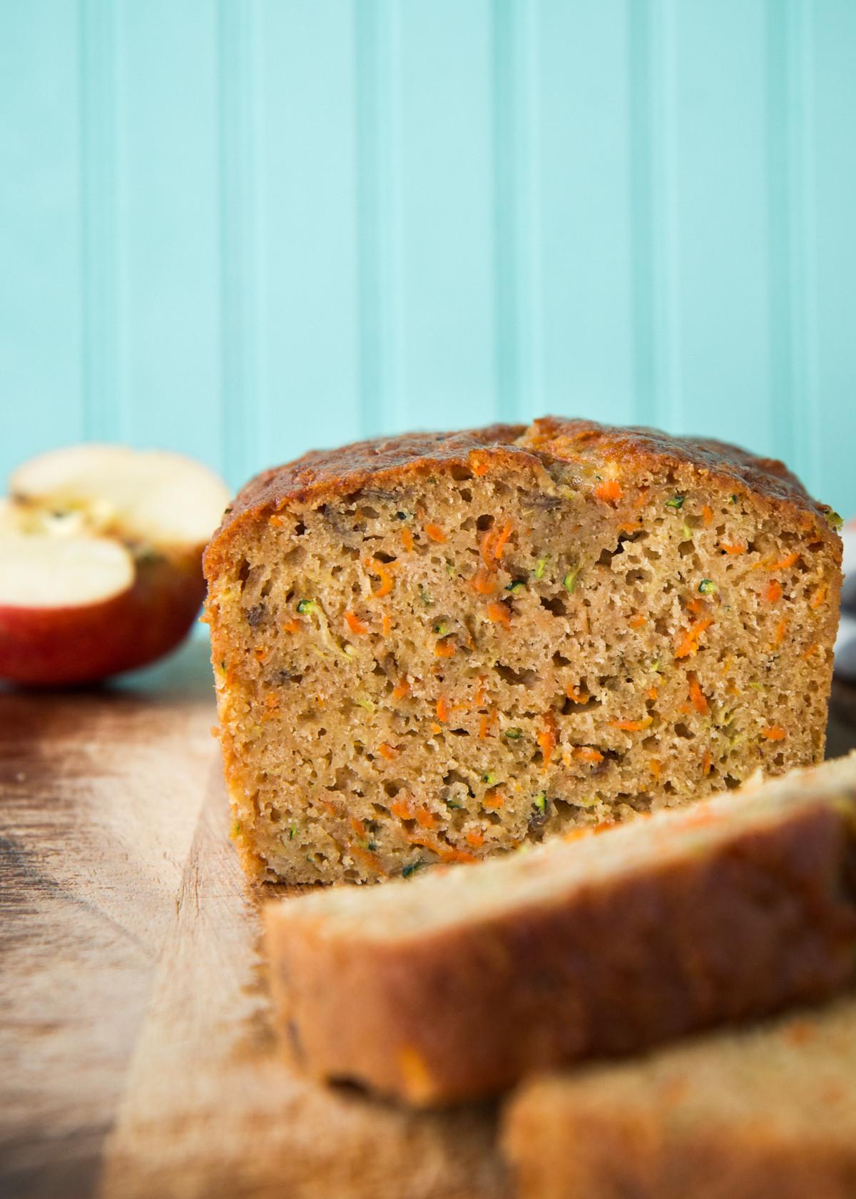 Carrot Apple Zucchini Bread  Zucchini Carrot Apple Bread