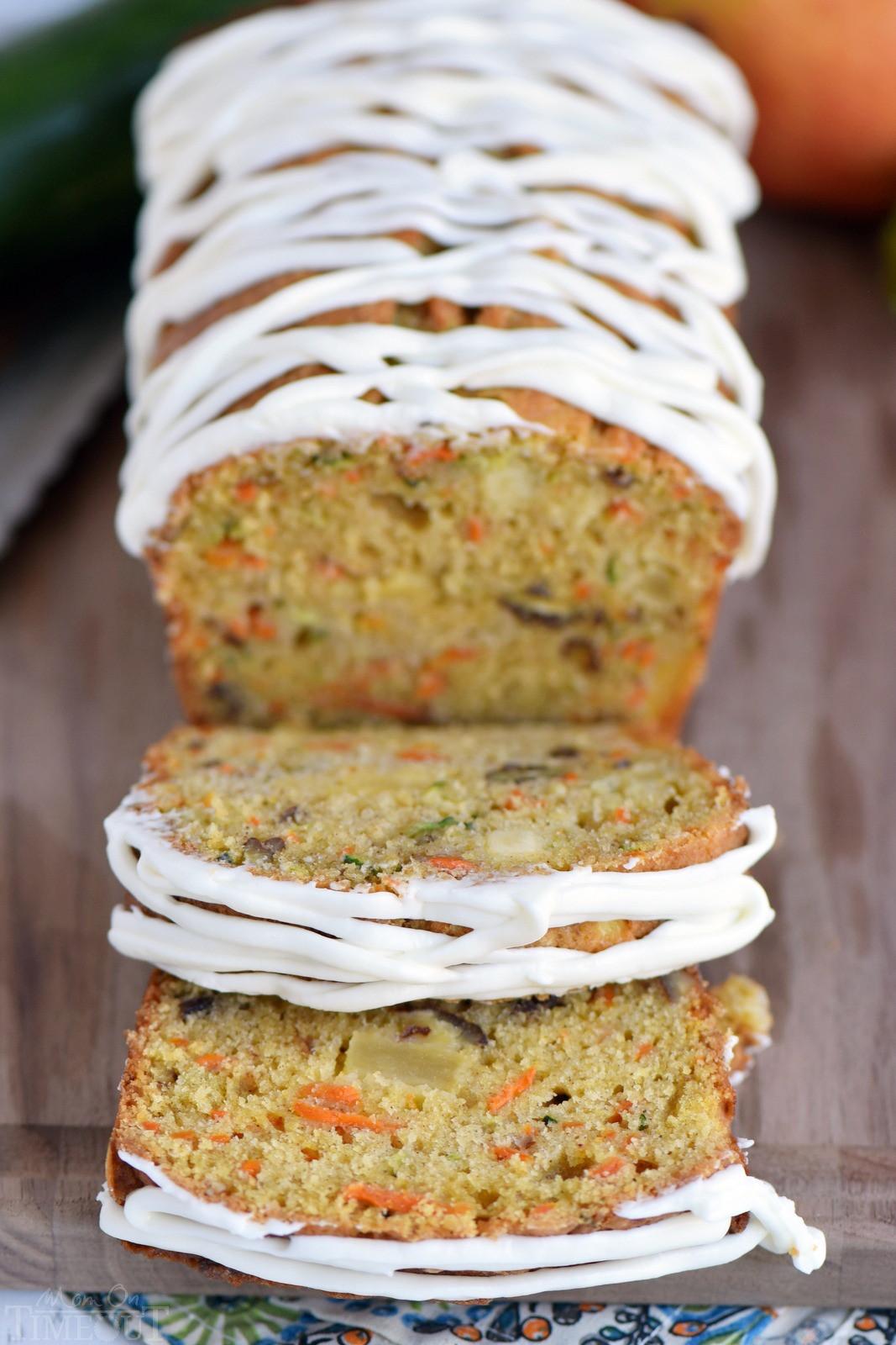Carrot Apple Zucchini Bread  Carrot Apple Zucchini Bread Mom Timeout