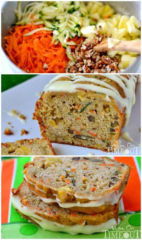 Carrot Apple Zucchini Bread  Carrot Zucchini Apple Bread Recipe