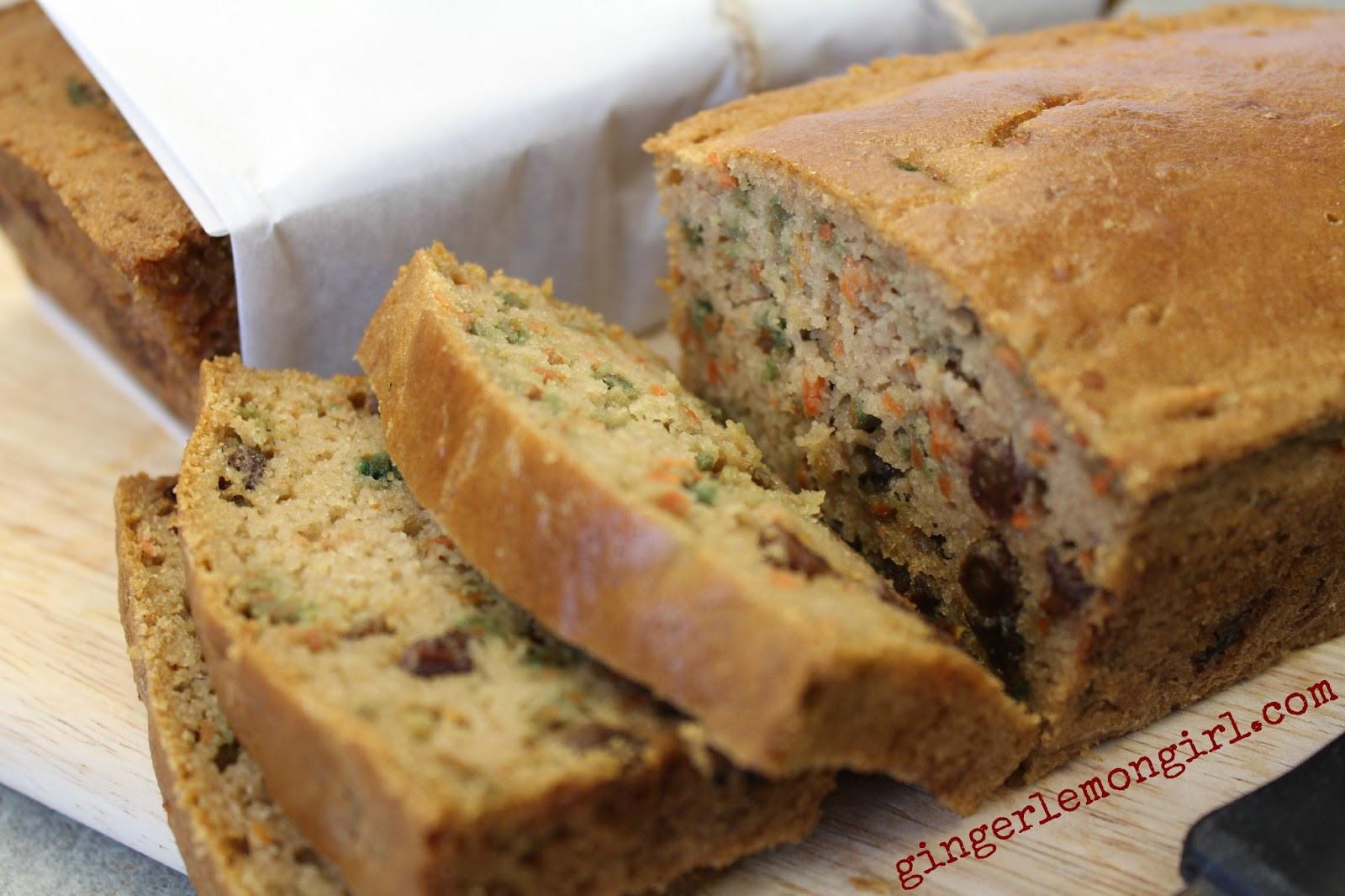Carrot Cake Bread  Carrie S Forbes Gingerlemongirl Gluten Free Paleo