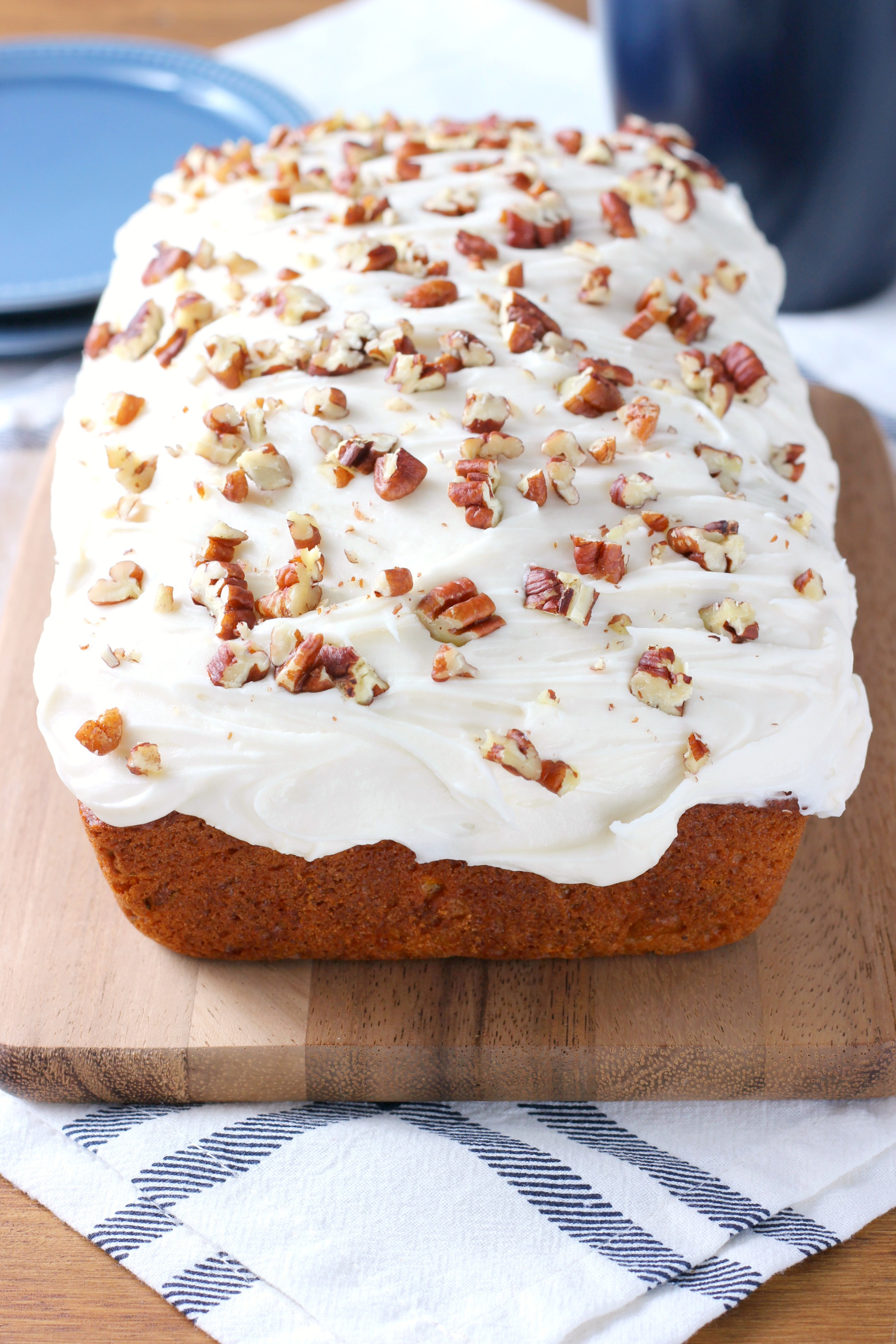 Carrot Cake Bread  Zucchini Carrot Cake Bread with Cream Cheese Frosting