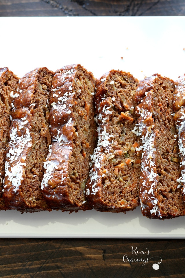 Carrot Cake Bread  Gluten Free Carrot Cake Bread Kim s Cravings