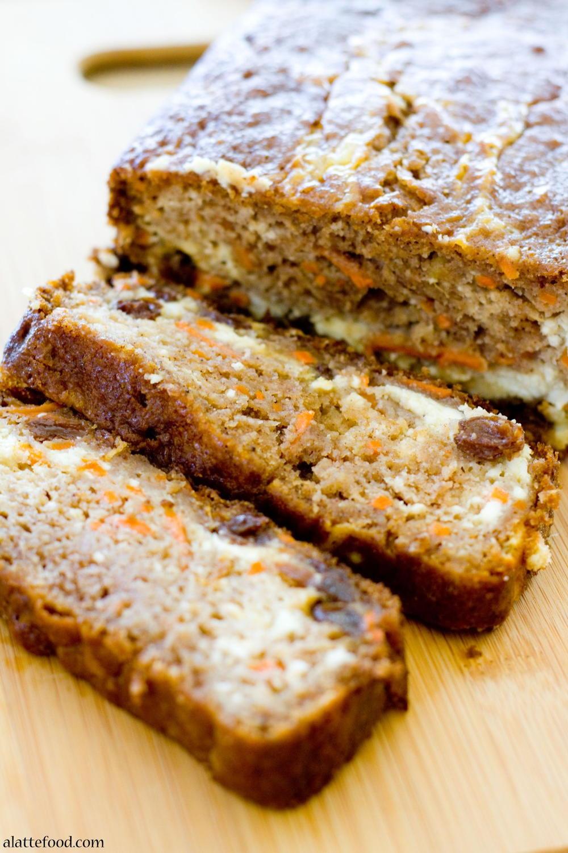 Carrot Cake Bread  Cheesecake Stuffed Carrot Cake Bread