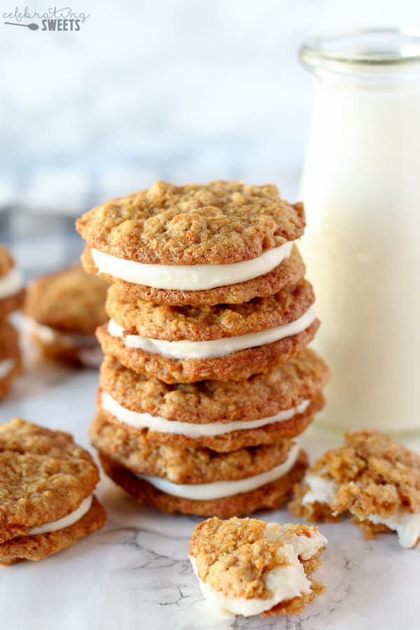 Carrot Cake Cookies  Carrot Cake Cookies Chewy Cookies with Cream Cheese Frosting