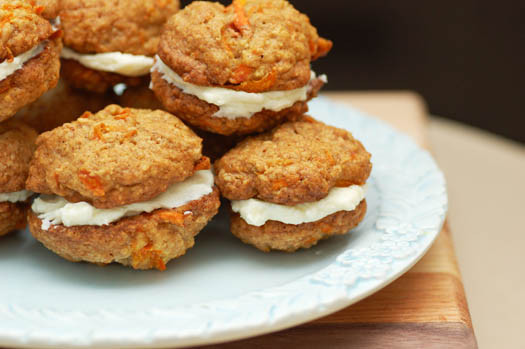 Carrot Cake Cookies  Carrot Cake Sandwich Cookies with Cream Cheese Filling – A