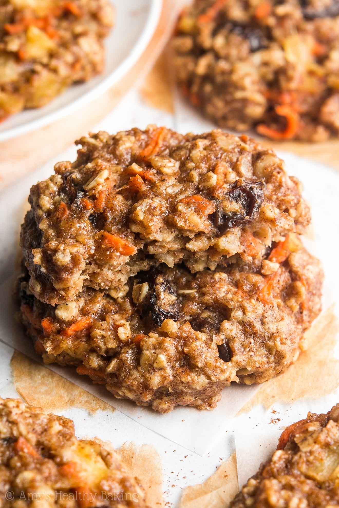 Carrot Cake Cookies  Loaded Carrot Cake Oatmeal Cookies