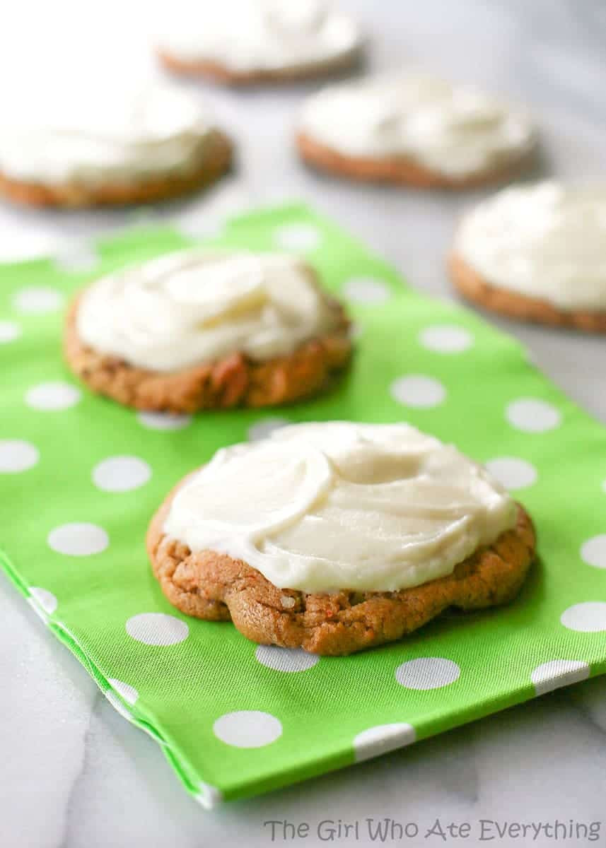 Carrot Cake Cookies  Chewy Carrot Cake Cookies