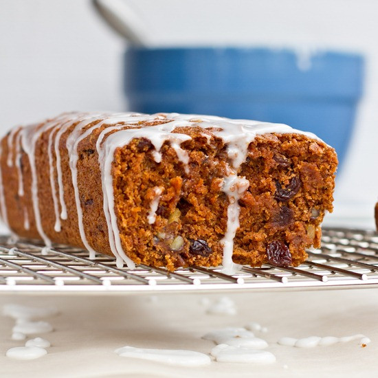 Carrot Cake Loaf  Whole Grain Vegan Carrot Cake Loaf with Lemon Glaze — Oh