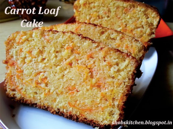 Carrot Cake Loaf  Carrot Loaf Cake ShobsKitchen