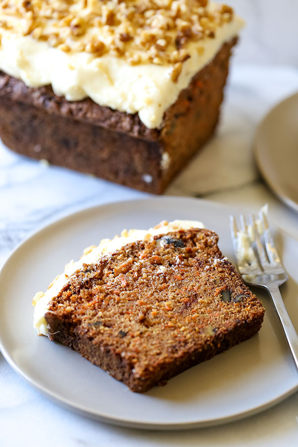 Carrot Cake Loaf  carrot and walnut loaf cake
