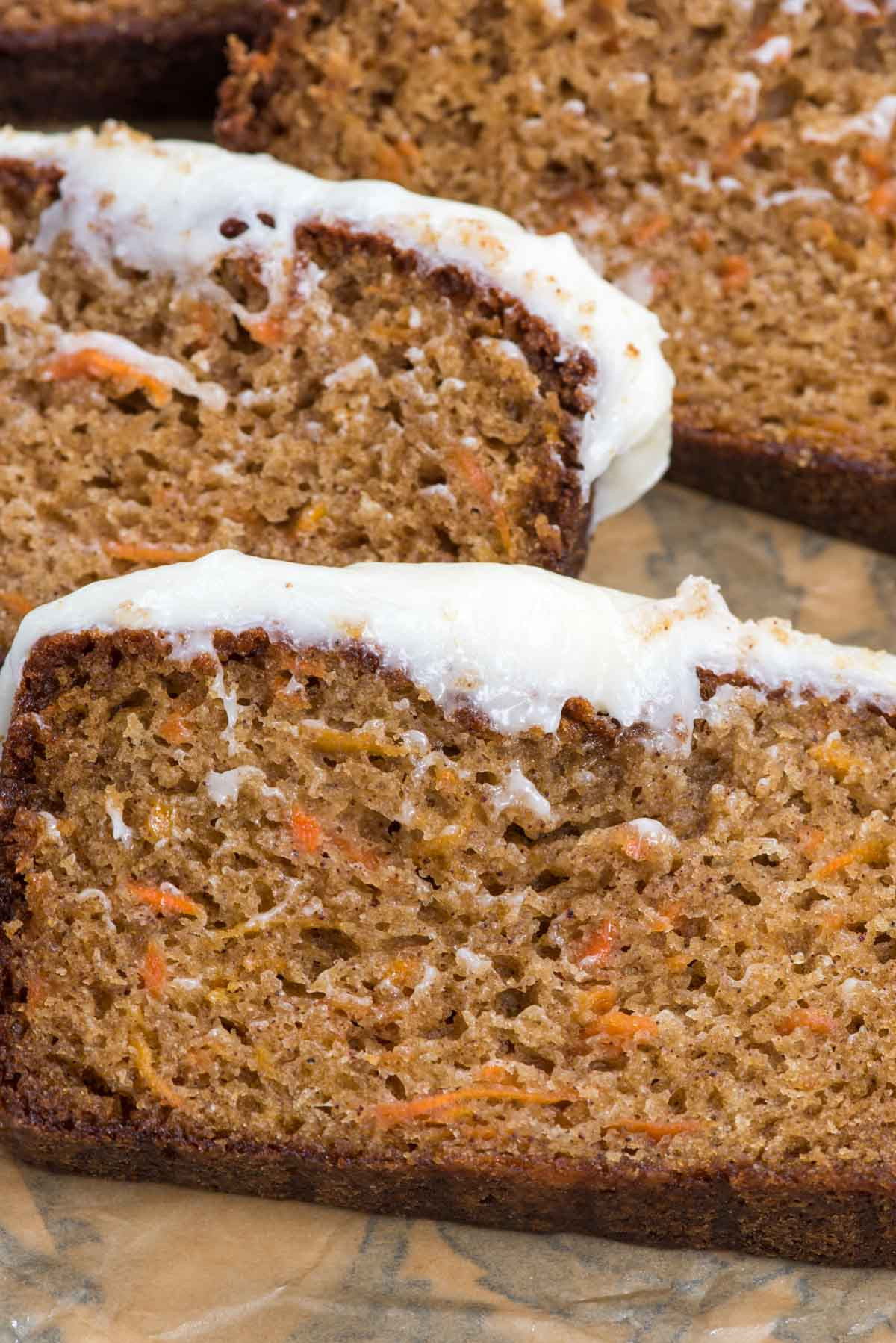 Carrot Cake Loaf  The BEST Carrot Cake Loaf Cake Crazy for Crust