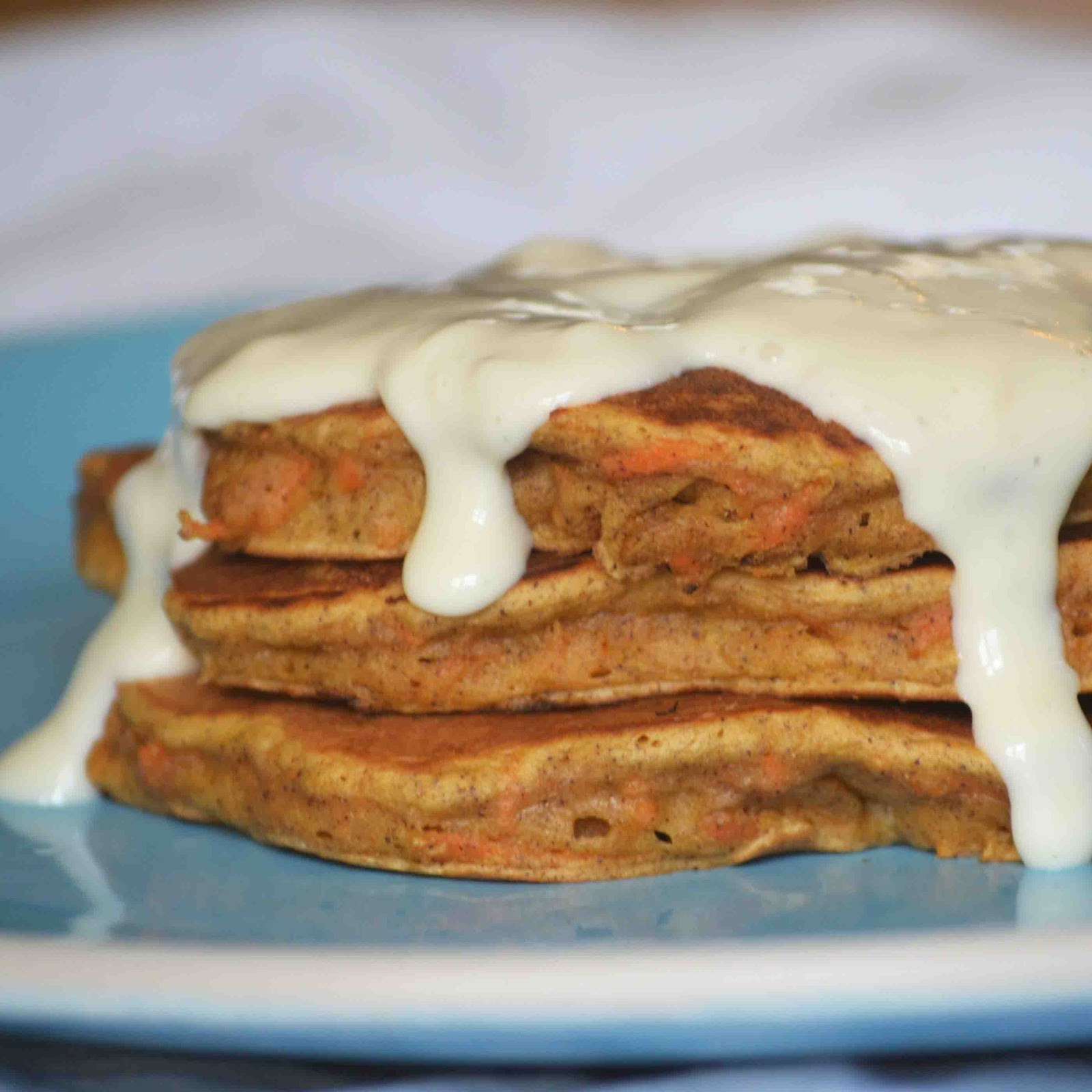 Carrot Cake Pancakes  Whole Wheat Carrot Cake Pancakes with Cream Cheese Syrup