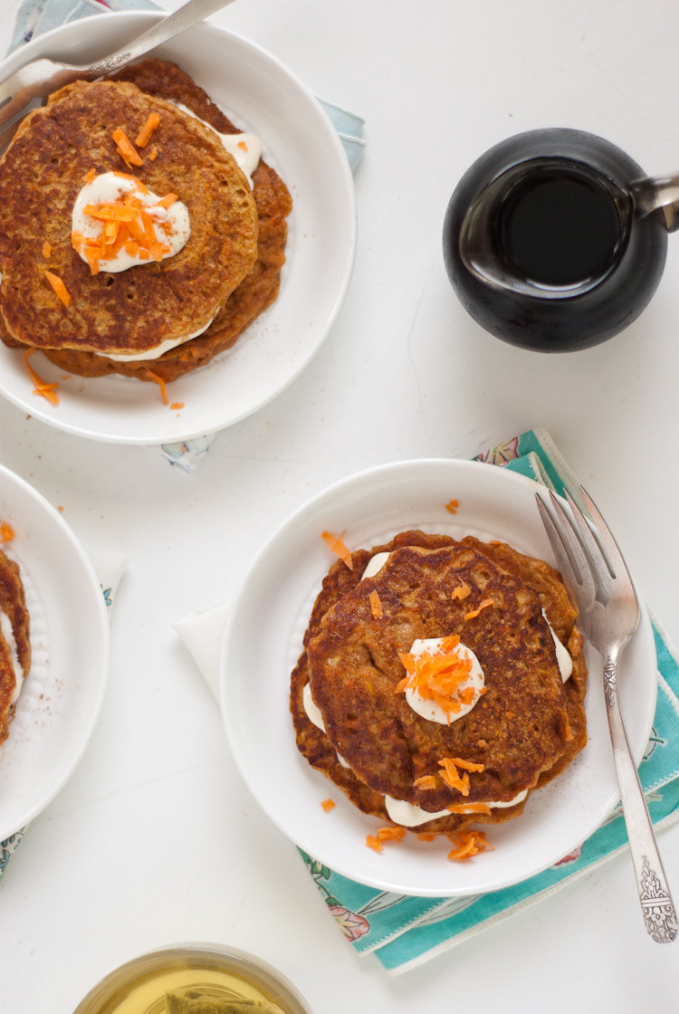 Carrot Cake Pancakes  Whole Wheat Carrot Cake Pancakes