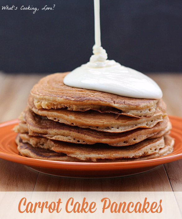 Carrot Cake Pancakes  Carrot Cake Pancakes Whats Cooking Love
