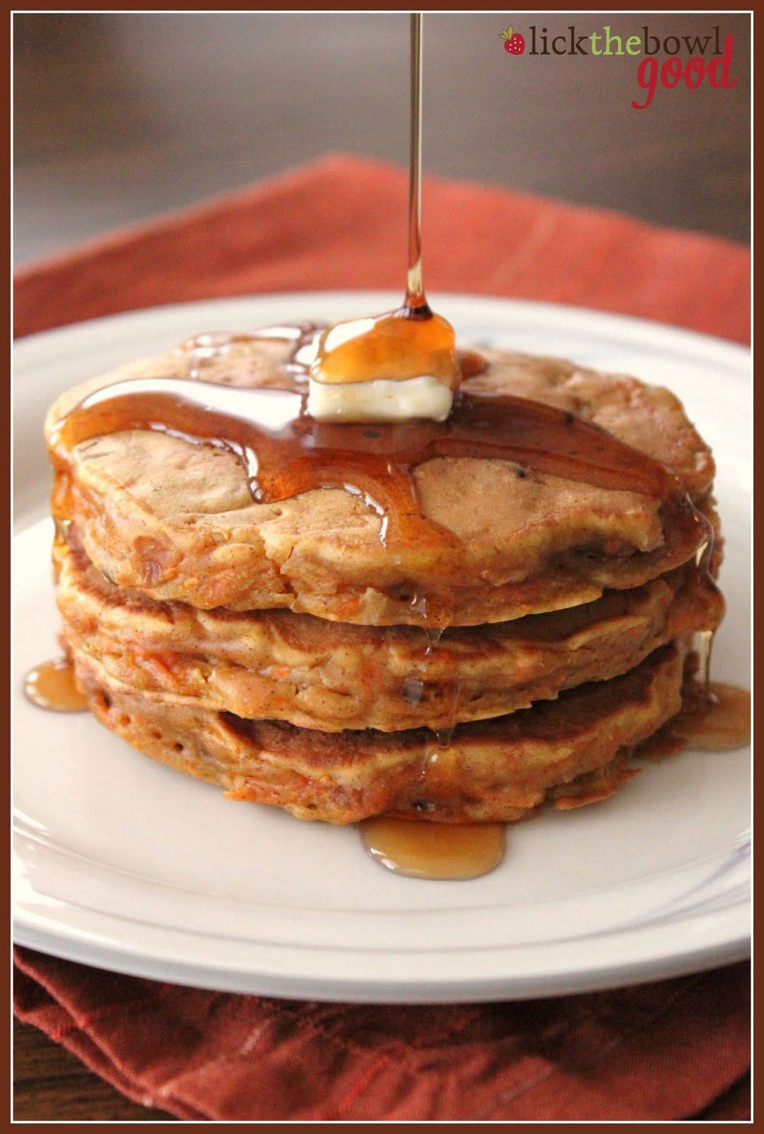 Carrot Cake Pancakes  Lick The Bowl Good Carrots For Breakfast Yes