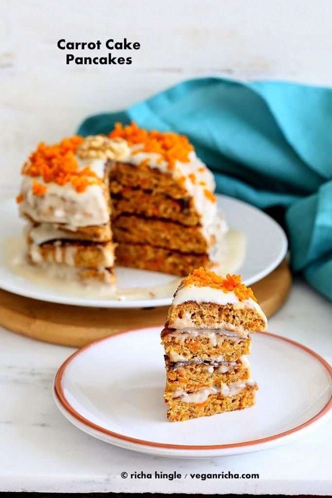 Carrot Cake Pancakes  Vegan Carrot Cake Pancakes with Yogurt Coconut Cream