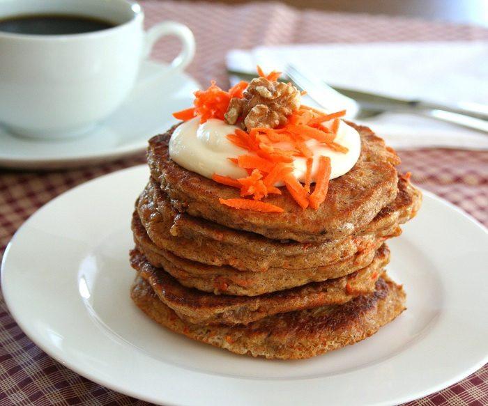 Carrot Cake Pancakes  Low Carb Carrot Cake Pancakes