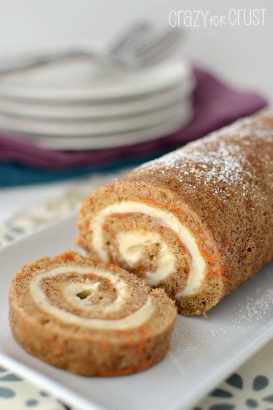 Carrot Cake Roll  Carrot Cake Roll Crazy for Crust