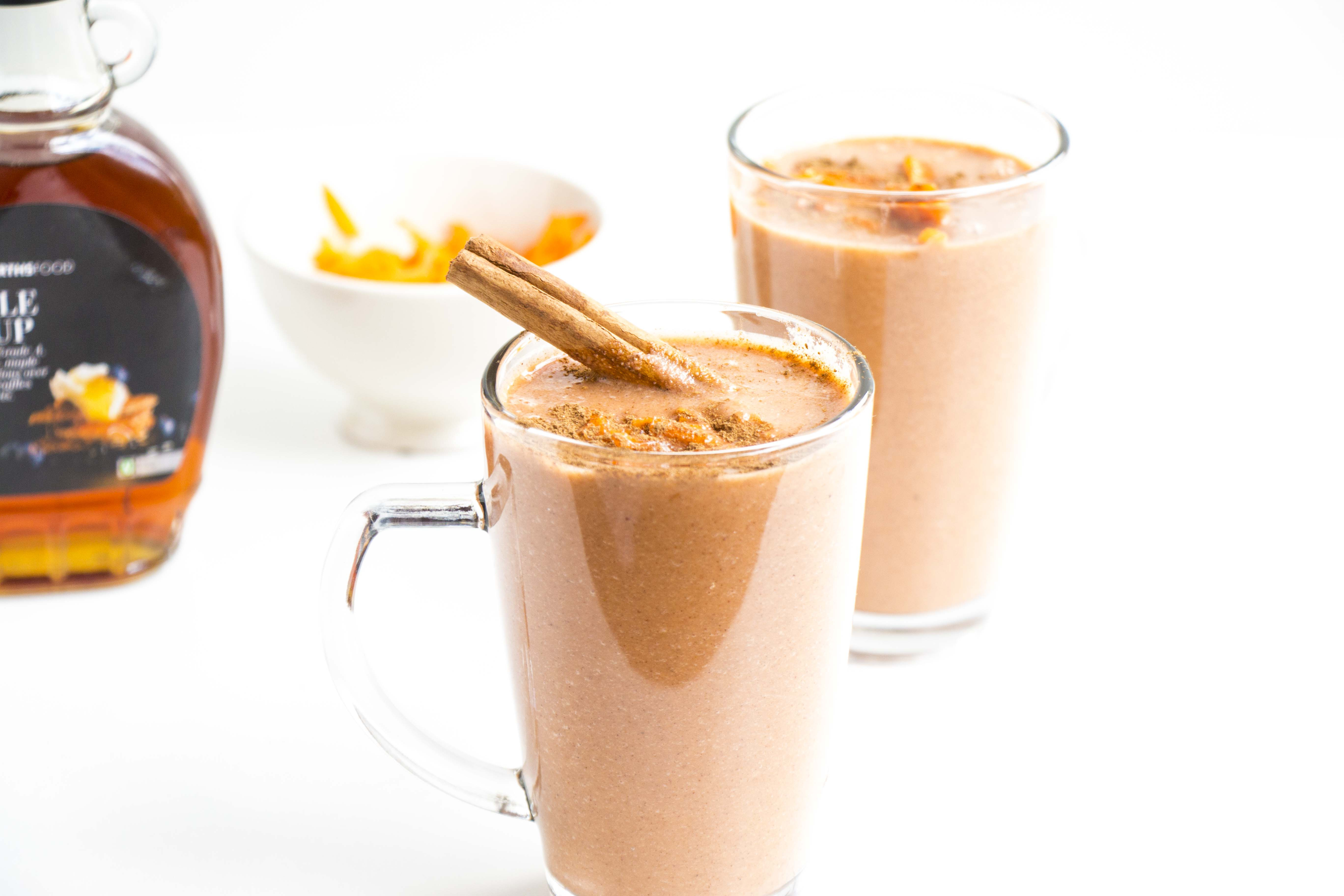 Carrot Cake Smoothie  Healthy Carrot Cake Smoothie Baking Ginger