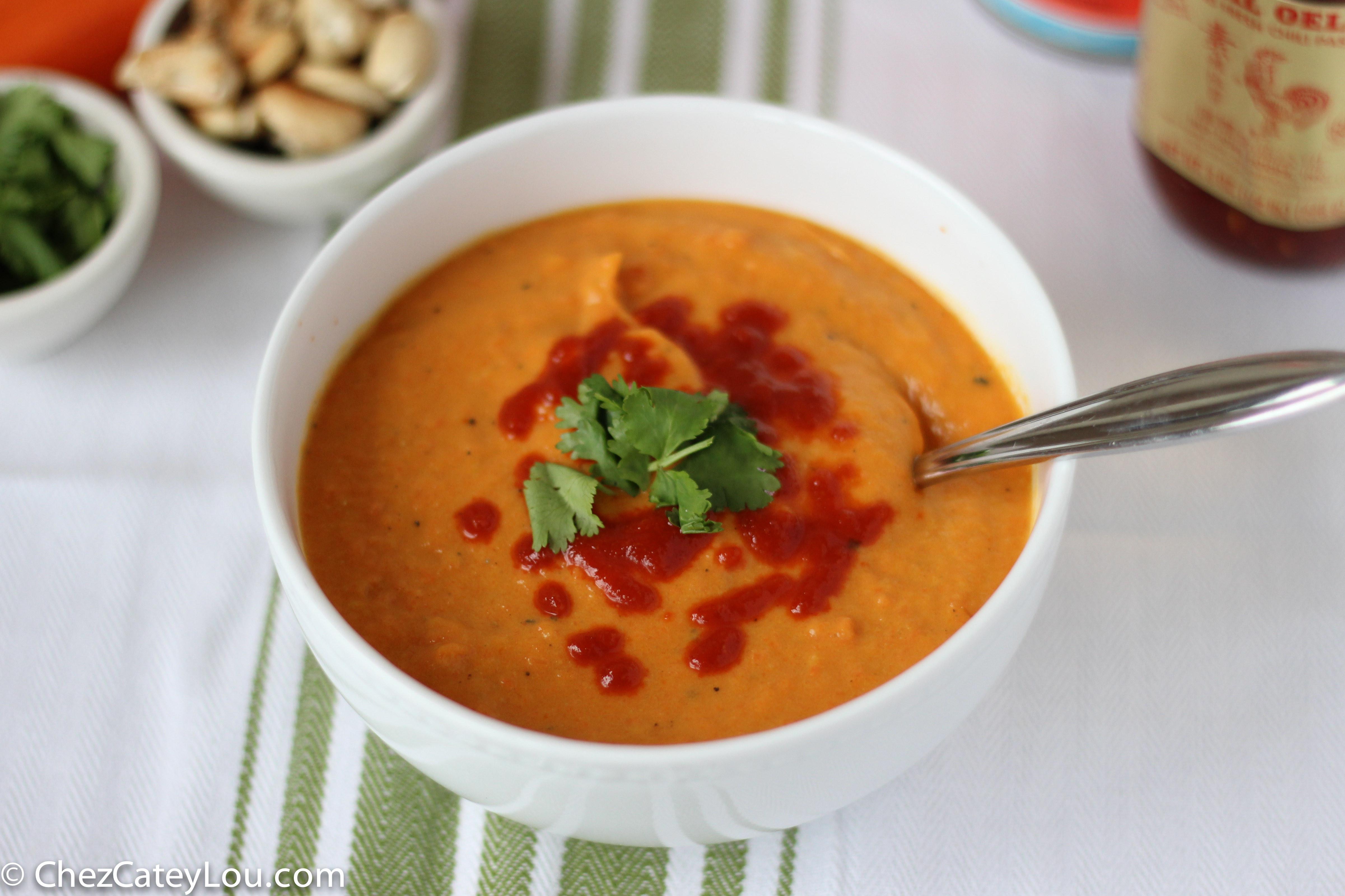 Carrot Coconut Soup  Carrot Coconut Soup Chez CateyLou