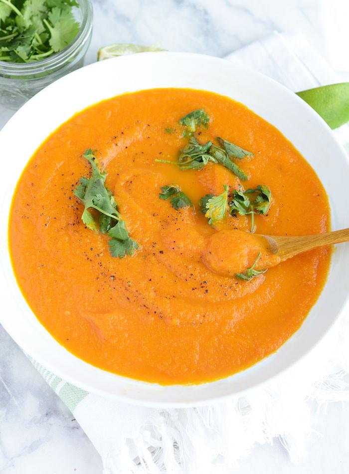 Carrot Ginger Soup Recipe  vegan ginger carrot soup