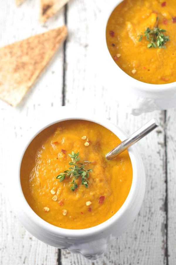 Carrot Ginger Soup Recipe  Carrot Ginger & Sweet Potato Soup