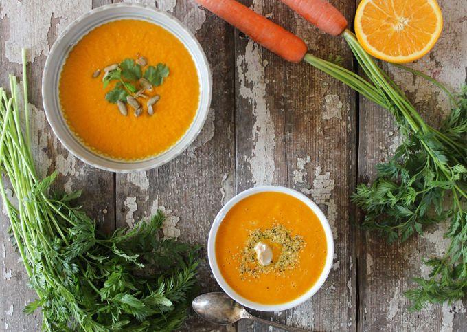 Carrot Ginger Soup Recipe  Carrot Orange & Ginger Soup