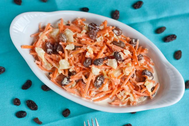 Carrot Raisin Salad  carrot orange jello pineapple