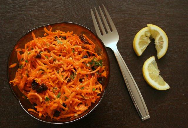Carrot Raisin Salad  Carrot Raisin Salad with Lemon & Garlic