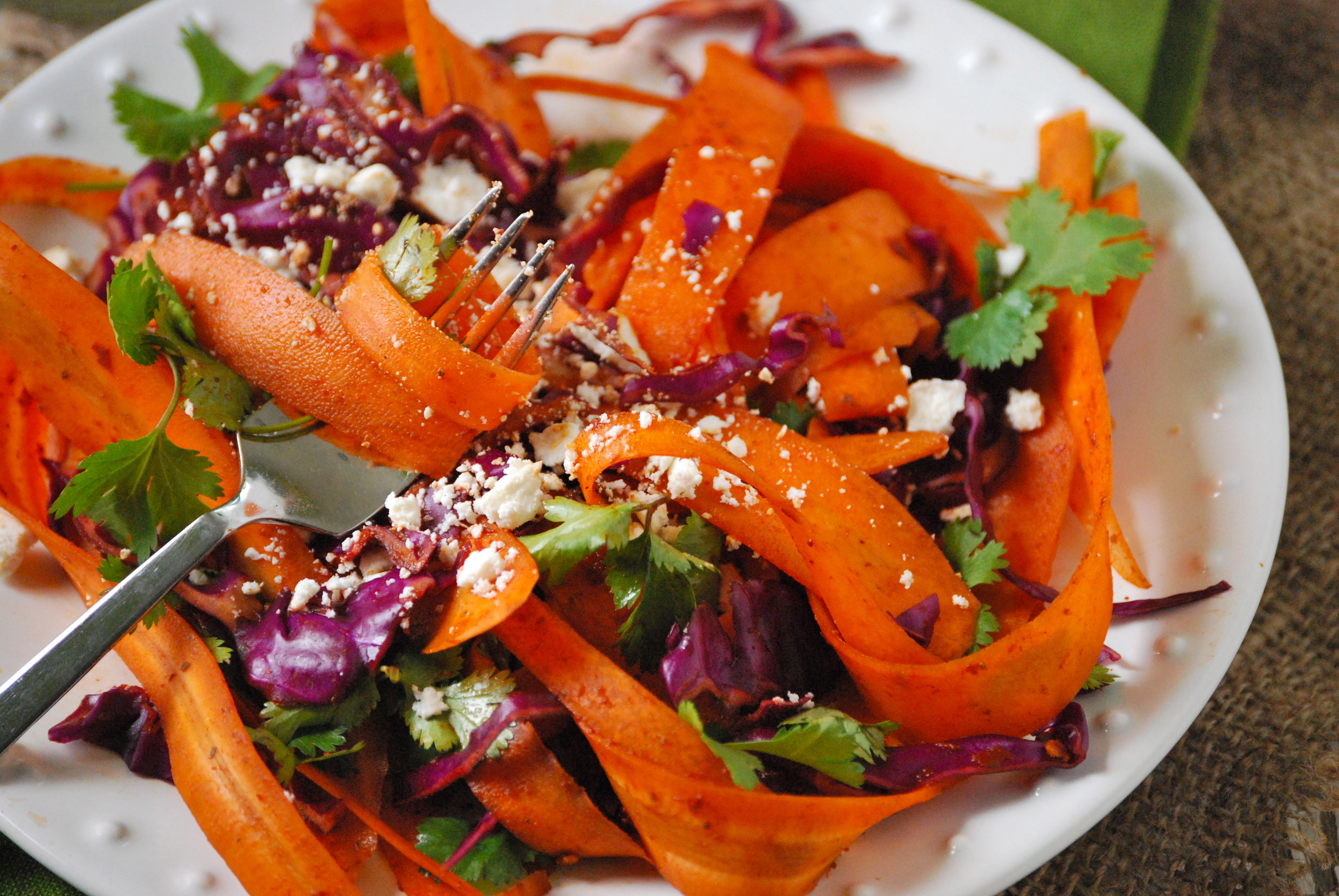 Carrot Salad Recipe  Simple Carrot Salad with Harissa and Cilantro
