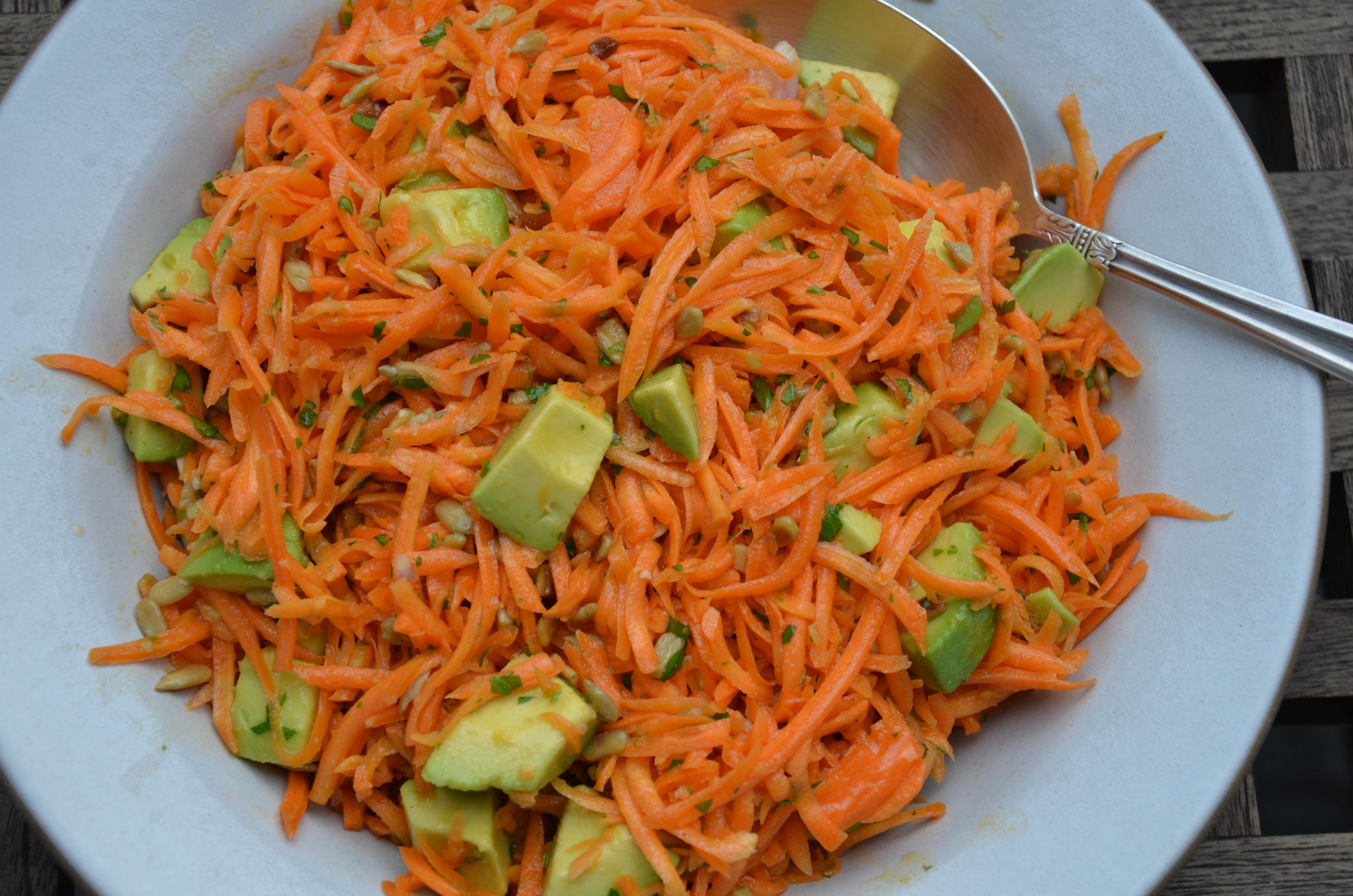 Carrot Salad Recipe  carrot salad with avocado recipe