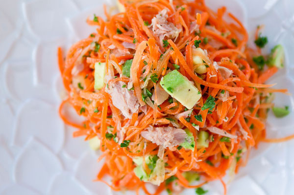 Carrot Salad Recipe  Carrot Salad Recipe with Tuna and Avocado