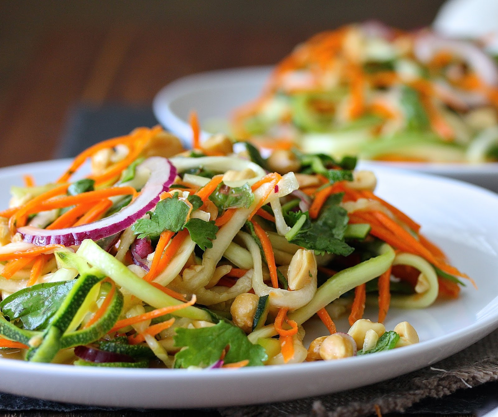 Carrot Salad Recipe  Vietnamese Zucchini and Carrot Salad with Peanuts