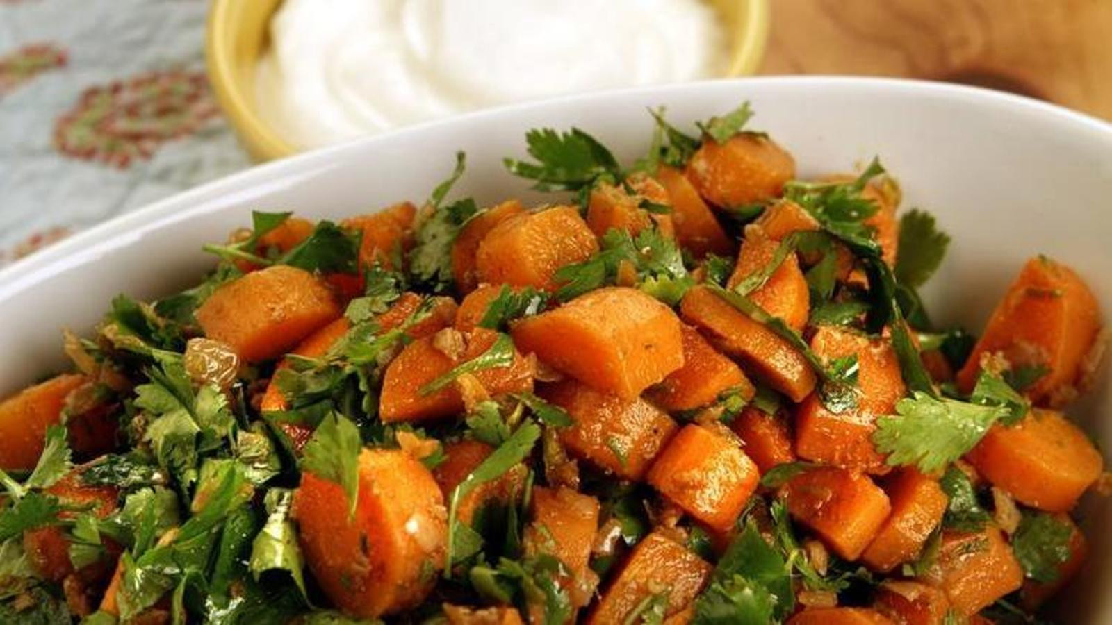 Carrot Salad Recipe  Try this spicy Moroccan carrot salad recipe for Meatless