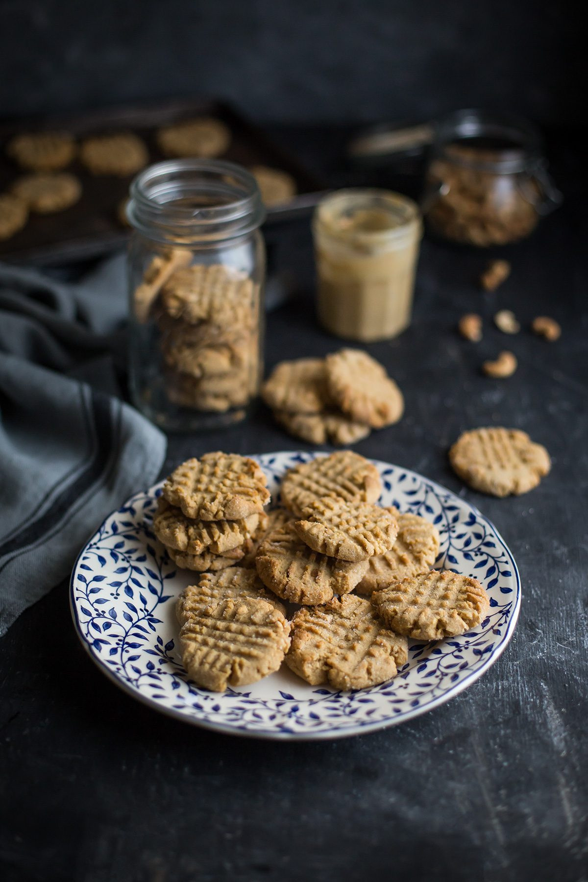 Cashew Butter Cookies  The best cashew nut butter cookies recipe
