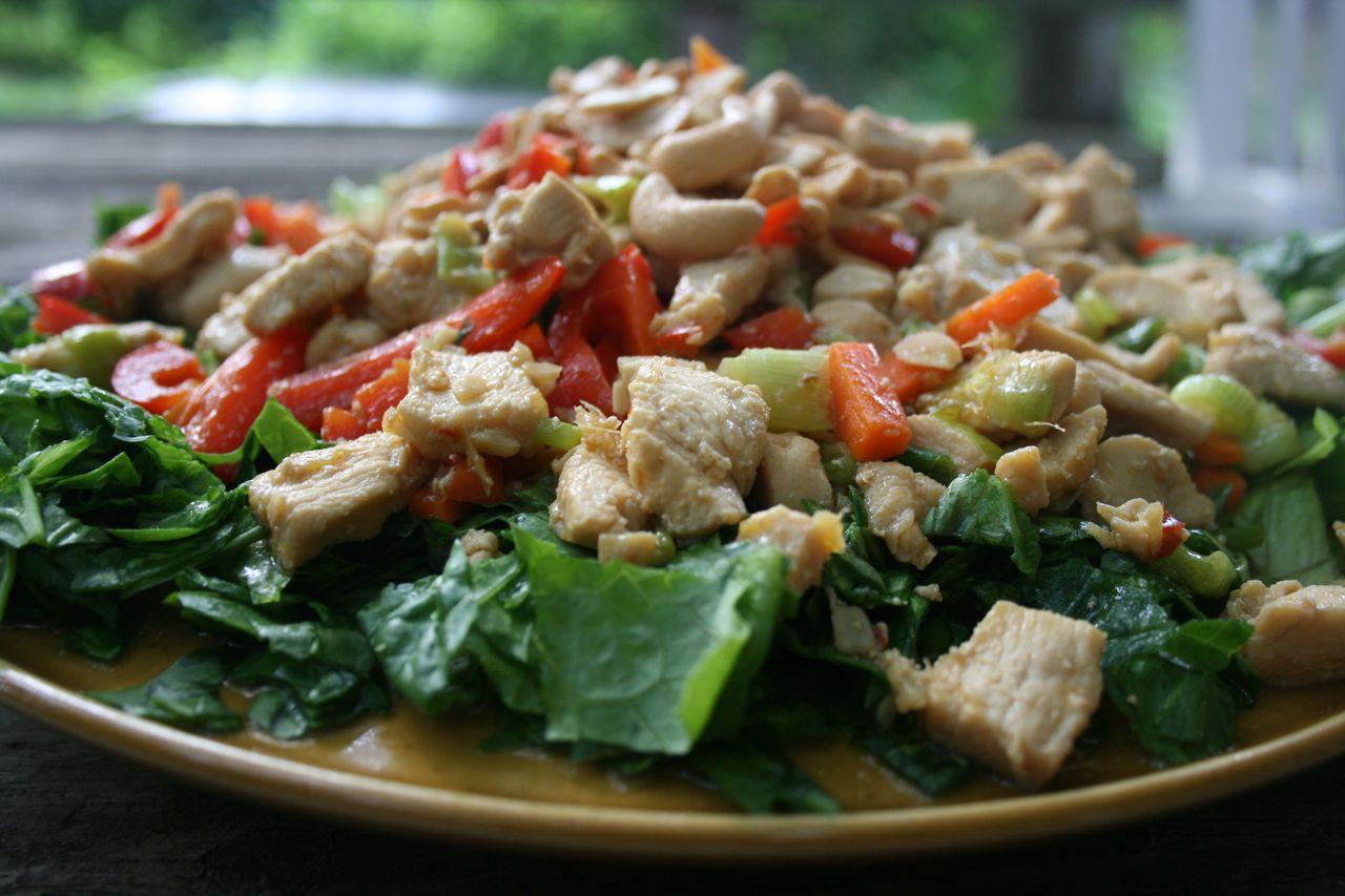 Cashew Chicken Salad  Recipe Shoebox Warm Cashew Chicken Salad