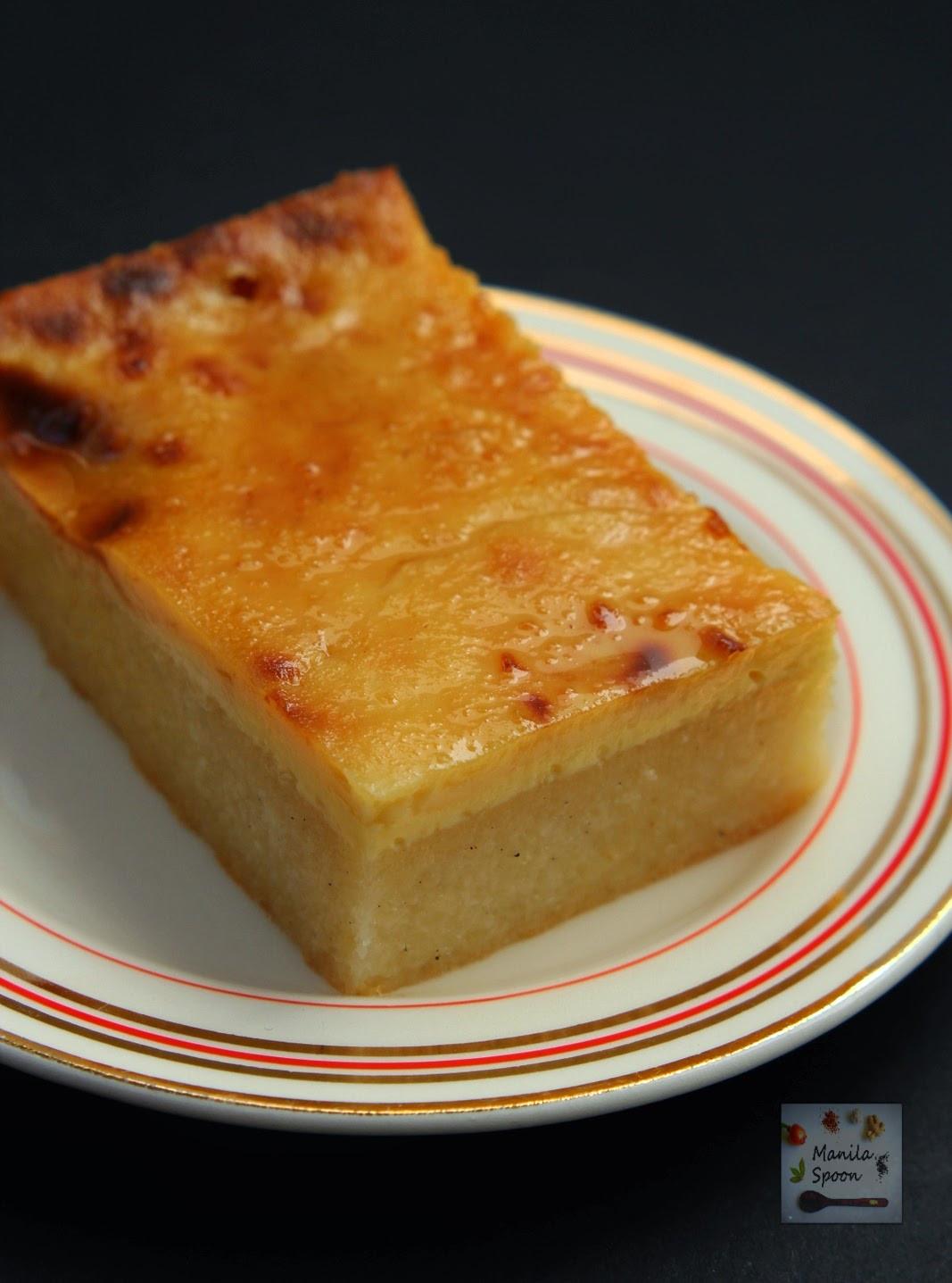 Cassava Cake Recipe  Cassava Cake with Creamy Custard Topping Manila Spoon