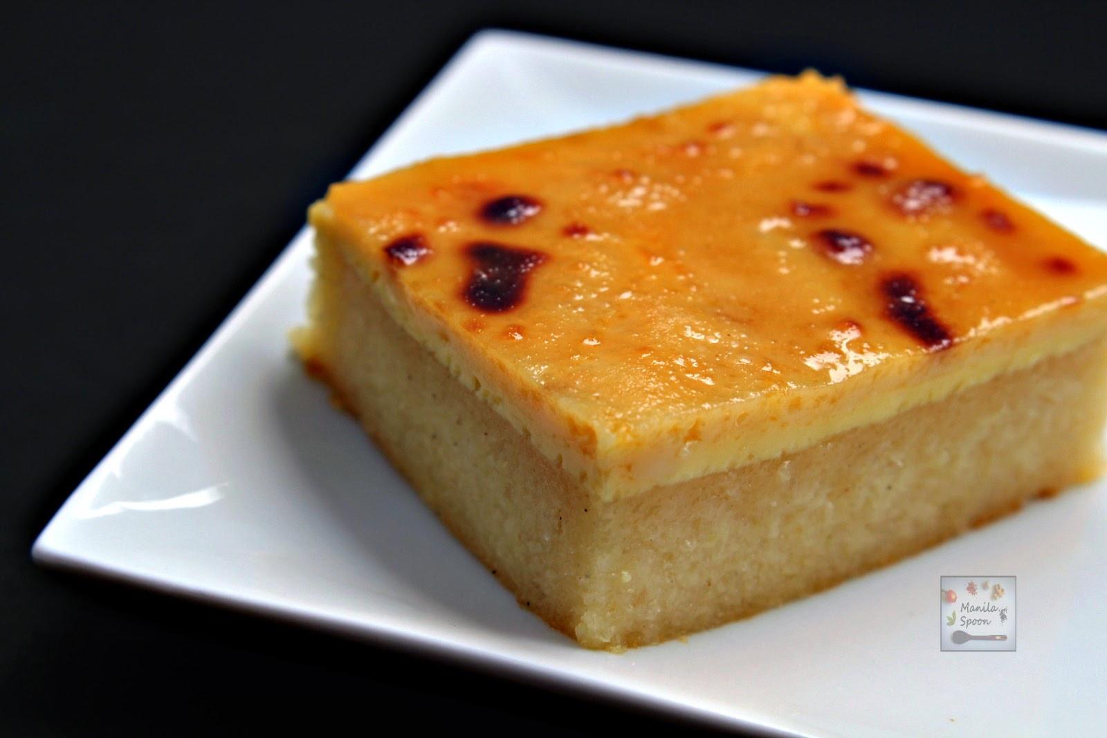 Cassava Cake Recipe  Cassava Cake with Creamy Custard Topping