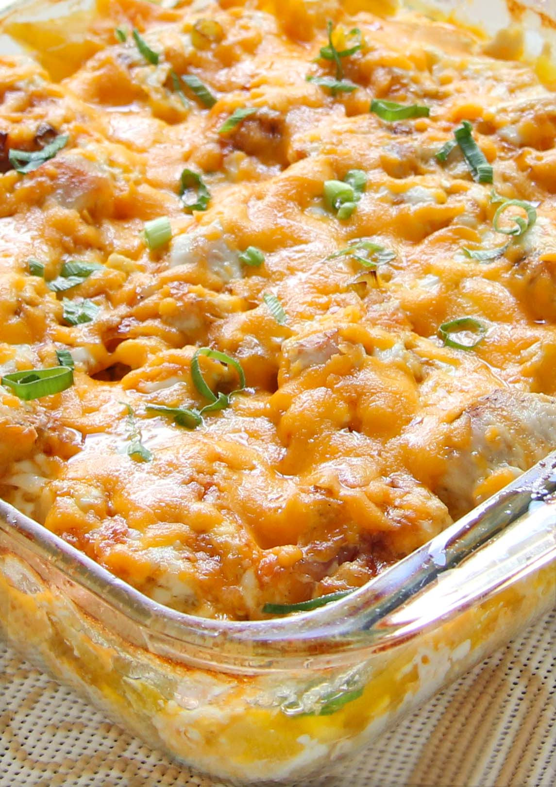 Casserole Recipes With Chicken  Loaded Baked Chicken Potato Casserole Cakescottage