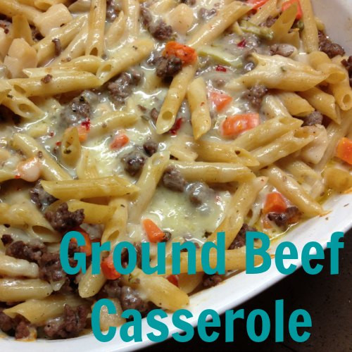 Casserole With Ground Beef  easy ground beef recipes with pasta