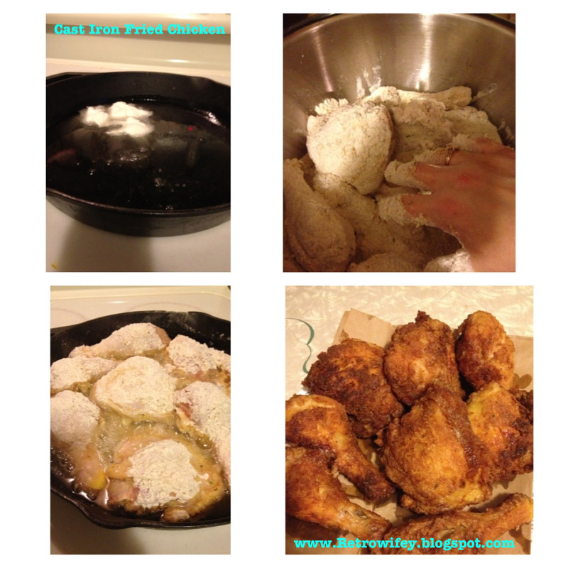 Cast Iron Fried Chicken  Retro Wifey Cast Iron Fried Chicken