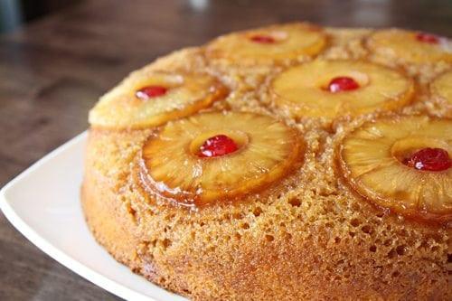 Cast Iron Pineapple Upside Down Cake  Skillet Pineapple Upside Down Cake Southern Bite