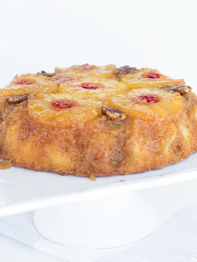 Cast Iron Pineapple Upside Down Cake  Skillet Pineapple Upside Down Cake Recipe Cookie Dough