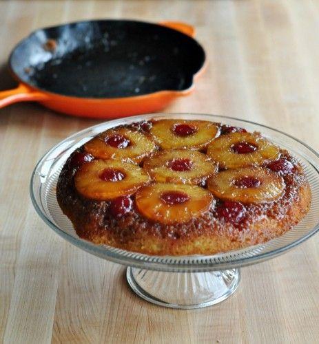 Cast Iron Pineapple Upside Down Cake  Skillet Pineapple Upside Down Cake Recipe — Dishmaps