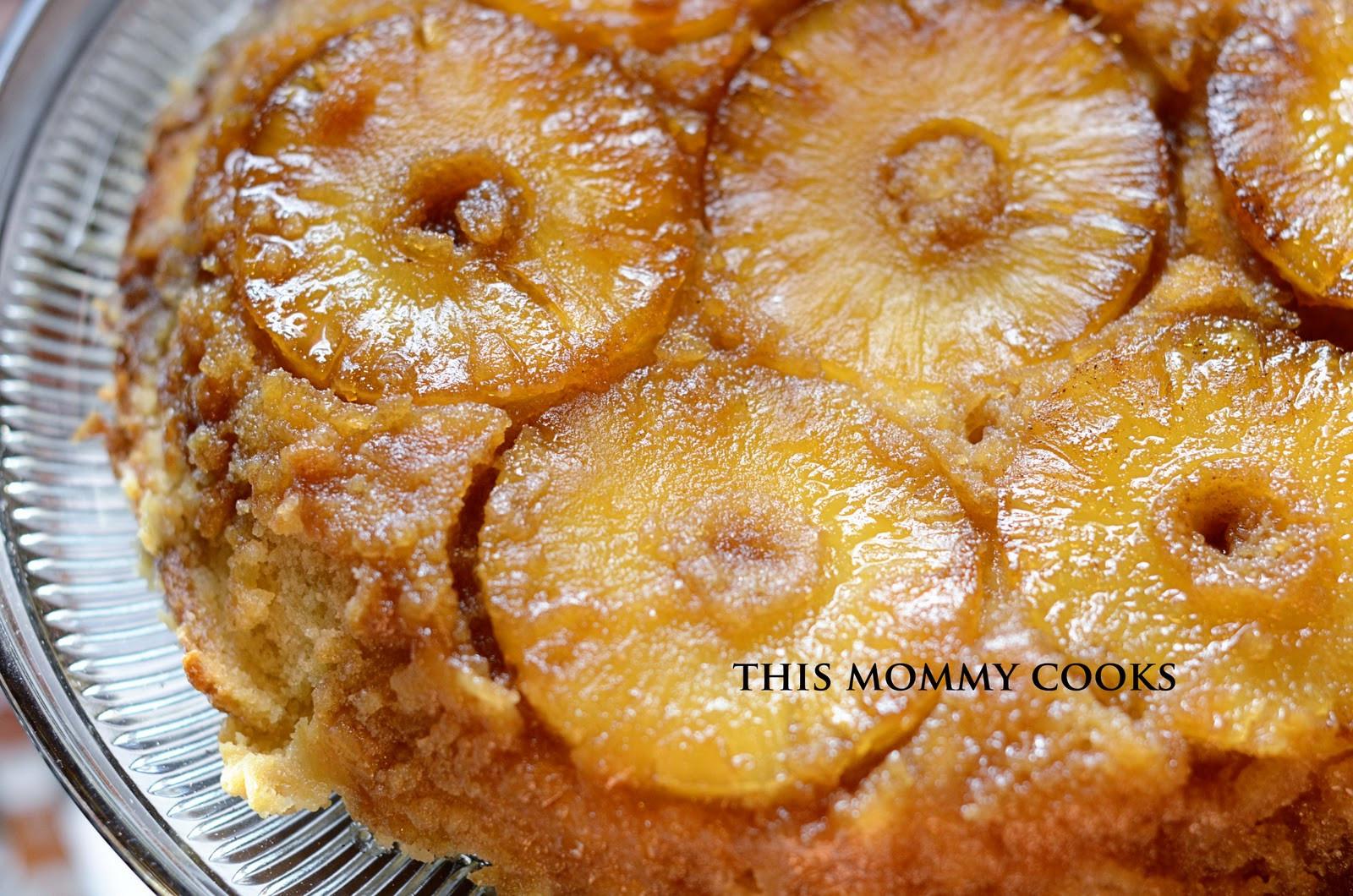Cast Iron Skillet Pineapple Upside Down Cake  This Mommy Cooks Pineapple Upside Down Cake in cast iron