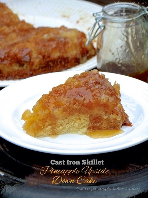Cast Iron Skillet Pineapple Upside Down Cake  1000 images about Art recipes on Pinterest